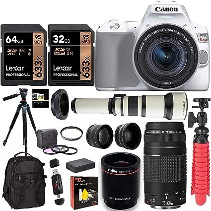 Canon EOS Rebel SL3 Cámara DSLR con 75-300 mm III, 650-1300 mm ...