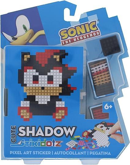 Amazon Com Stikidotz 3d Pixel Art Set With Cute Sonic Design Shadow