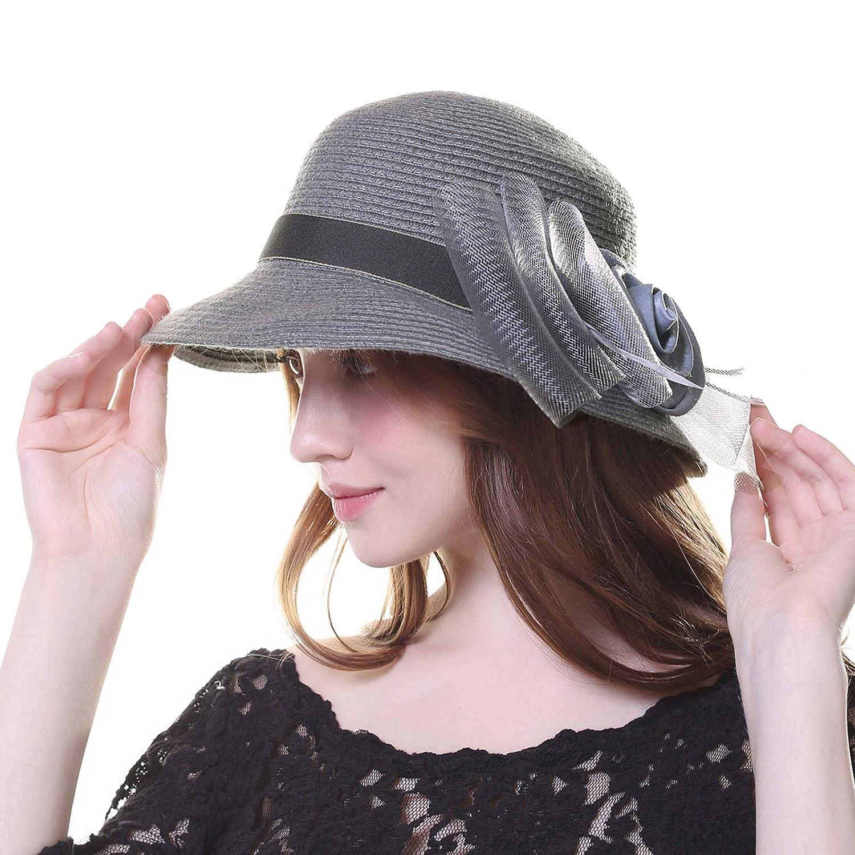 ae206e5a 100% Wool Winter Bucket Tea Party Church Hats for Women Kajeer