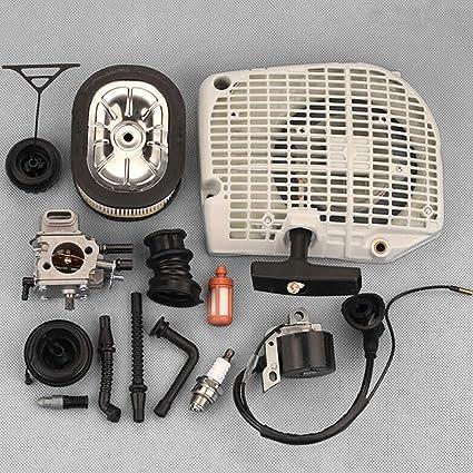 SimpleMfD 1 Set Práctico Duradero de alta calidad para Stihl 064 066 MS640 650 660 Motosierra Kit de carburador de arranque de retroceso: Amazon.es: Coche y moto