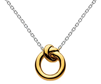 c5d0dc895a939e Kit Heath Sterling Silver and Gold Plated Amity Knot Necklace of Length  45.7 cm: Amazon.co.uk: Jewellery