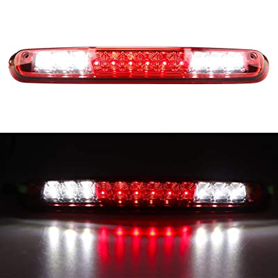 Youxmoto For 2007-2013 Chevy Silverado/GMC Sierra 1500 2500HD 3500HD LED Third 3rd Brake Cargo Light Assembly, Rear Roof Center High Mount Stop Tail Light (Chrome Housing Red Lens): Automotive