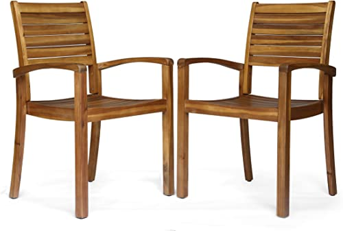 Christopher Knight Home 306431 Watts Outdoor Acacia Wood Dining Chair