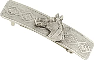product image for 1928 Jewelry Silver-Tone Horse Hair Barrette