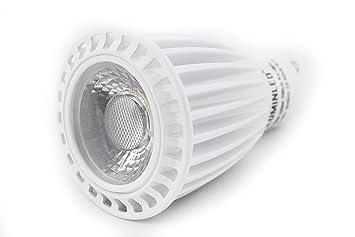 Bombilla dicroica LED GU10 7w 580-590 LM. Luz calida 2700K o fría 5500K