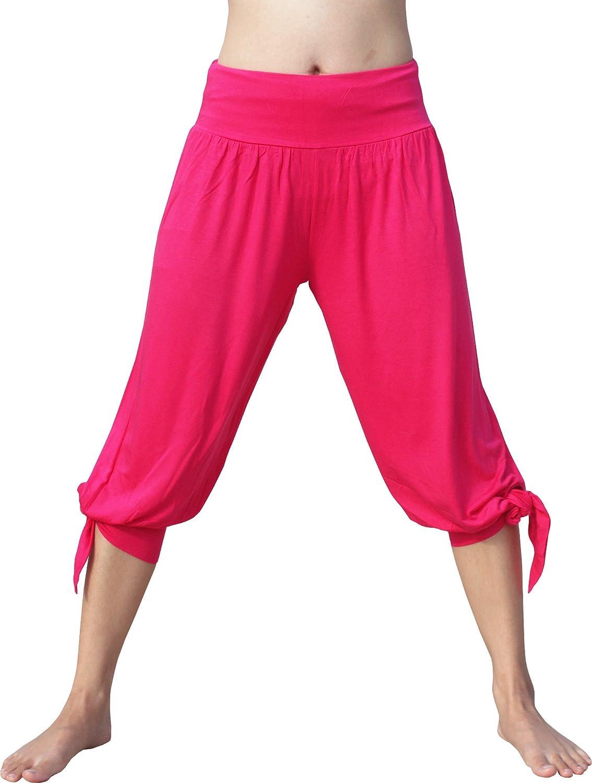 Full Funk Spandex Pirate Leg Tie Buccaneer Pants Medium Deep Pink item483530AMZ