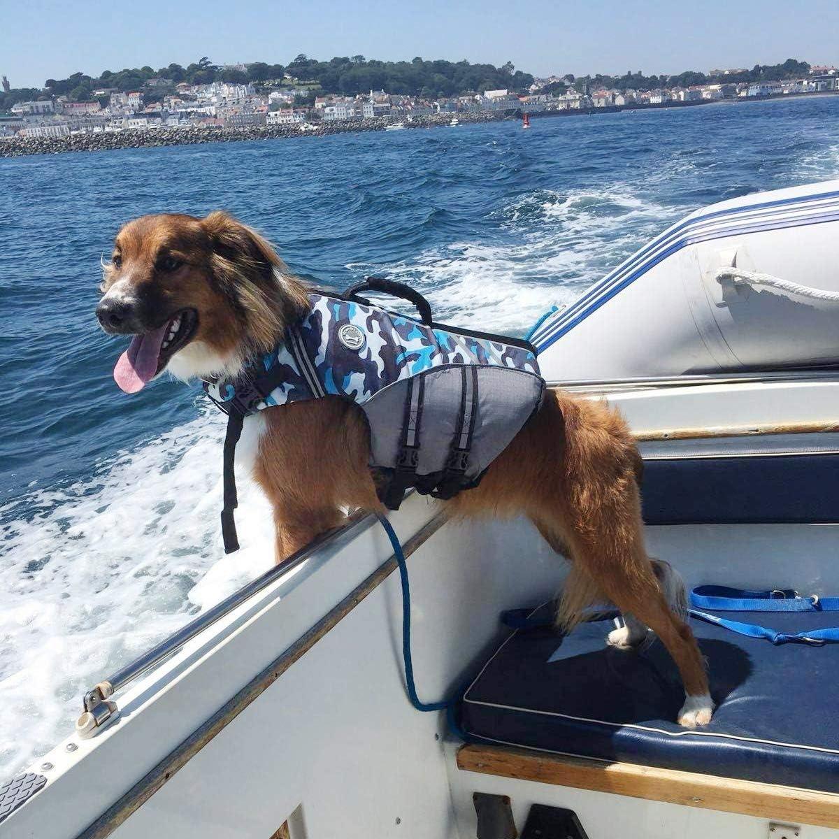 VIVAGLORY Neuartige Sport Style Ripstop Haustier Hunde-Schwimmweste mit /überlegenem Auftrieb und Rettungsgriff