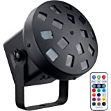 DragonX LED Tri Color Mushroom Stage Effect DJ Professional Light(IR Remote Controller included) for Home Parties Disco Club and KTV
