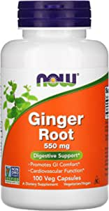 Now Foods, Ginger Root, Digestive Support, 550 mg, 100 Veg Capsules