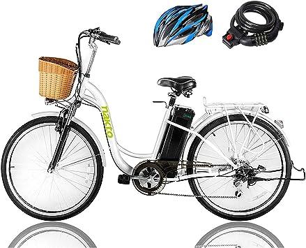 Nakto Bicicleta Eléctrica Deportiva Shimano 6 velocidades EBike ...