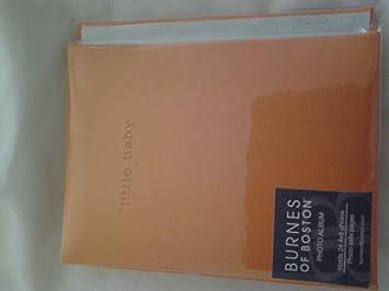 burnes of boston baby orange 4x6 photo album