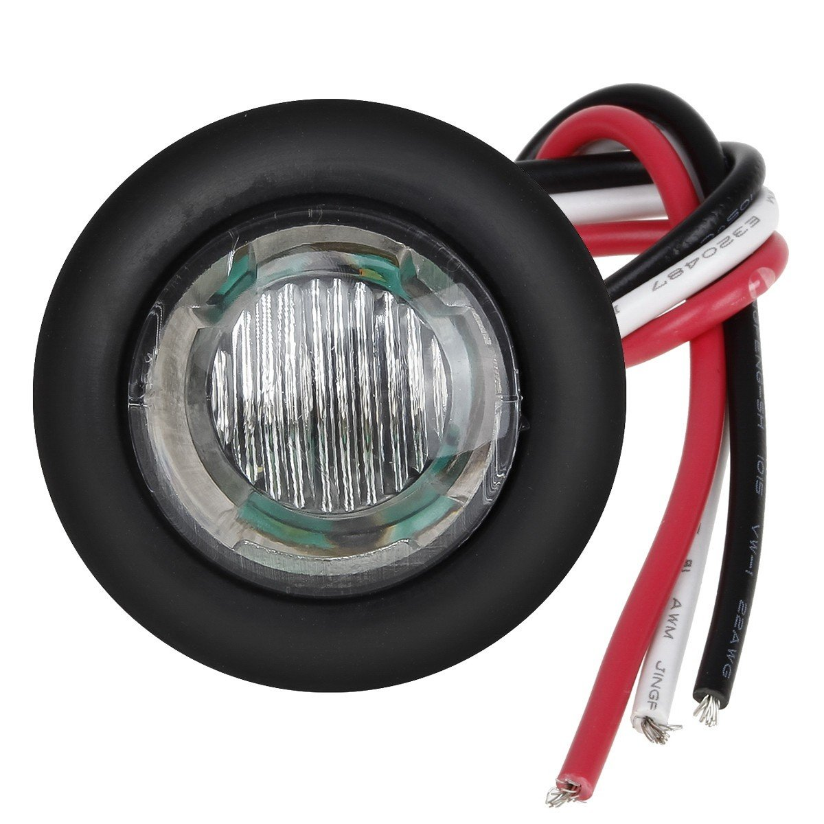 Partsam 20 x 3//4 Amber//Red Round Led Light Trailer Boat Marker Clearance High Low Power 3SMD Clear Lens 3//4 round LED combination turn signal running lamp fender lights 3-WIRE assembly Taillights
