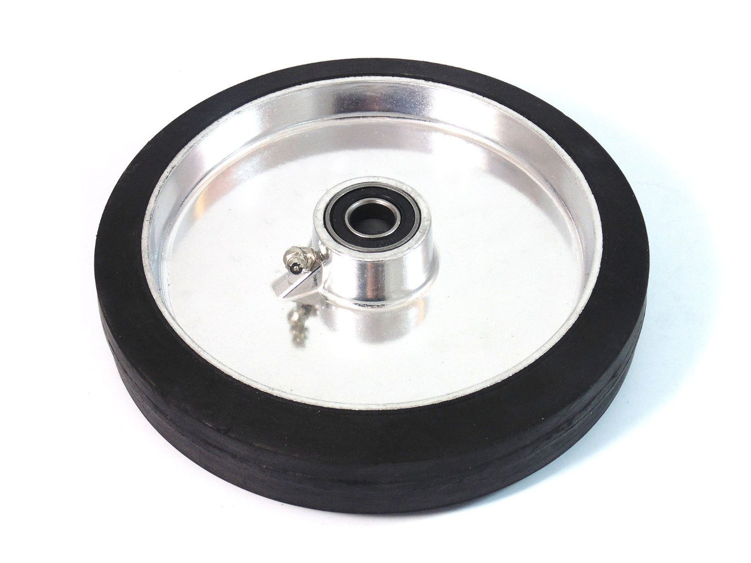 (1 Pc) Troy Safety WAW8 8'' x 1 5/8'' Aluminum Flat Free Wheel for Hand Trucks
