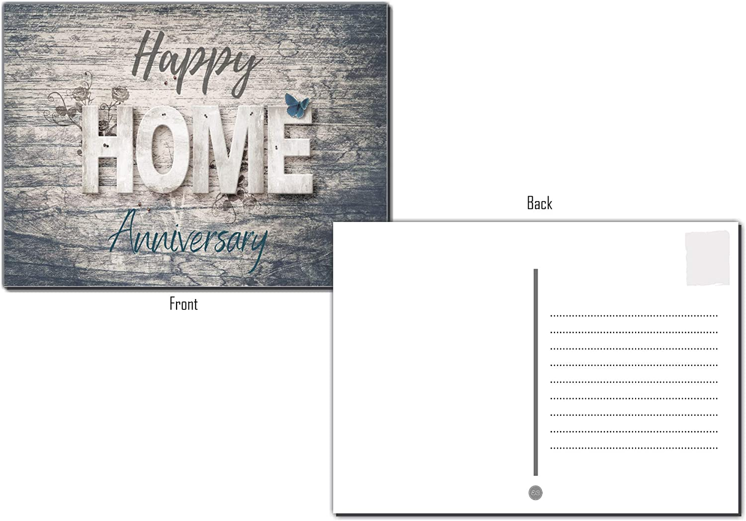 25 Happy Home Anniversary Realtor Chalk Cards Blank Greeting Home Postcards,Realtor Gifts Welcome Home Cards Vintage Bulk Real State Thank You Notes