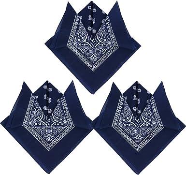 QUMAO Pack de 3 Pañuelos Bandanas de Modelo de Paisley para Cuello ...