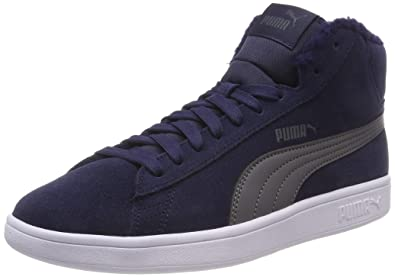 Puma Unisex Kinder Smash V2 Mid Fur Jr Hohe Sneaker