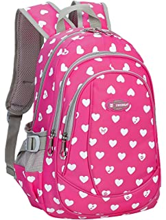 151363e707a2 Hearts Print School Backpacks For Girls Kids Elementary School Bags Bookbag