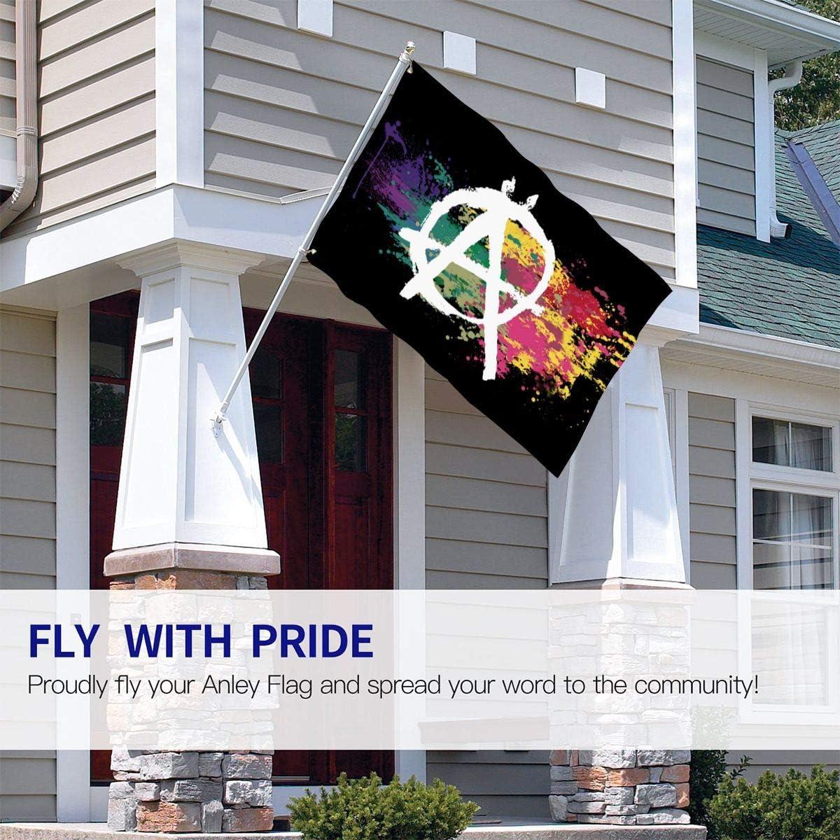 Garden Yard Decorations 4x6 Ft Outdoor Artificial Flag for Home Lkbihl Anarchy Symbol Watercolor Rainbow Decorative Garden Flags