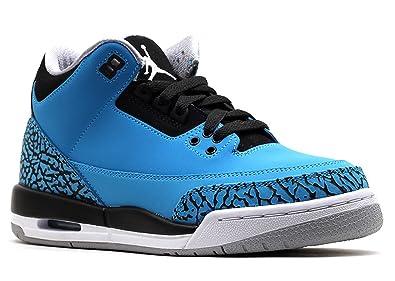 733f8c9eb545b Amazon.com: Jordan Air 3 Retro Powder Blue BG Big Kids Basketball ...