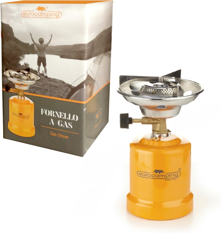 Eurocamping - Hornillo de gas portátil naranja para cartucho ...