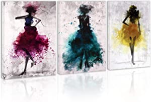 Watercolor Purple Girl Love Dance Wall Art Decor Modern Abstract Black And White Canvas Painting Kitchen Prints Pictures For Home Living Dining Room
