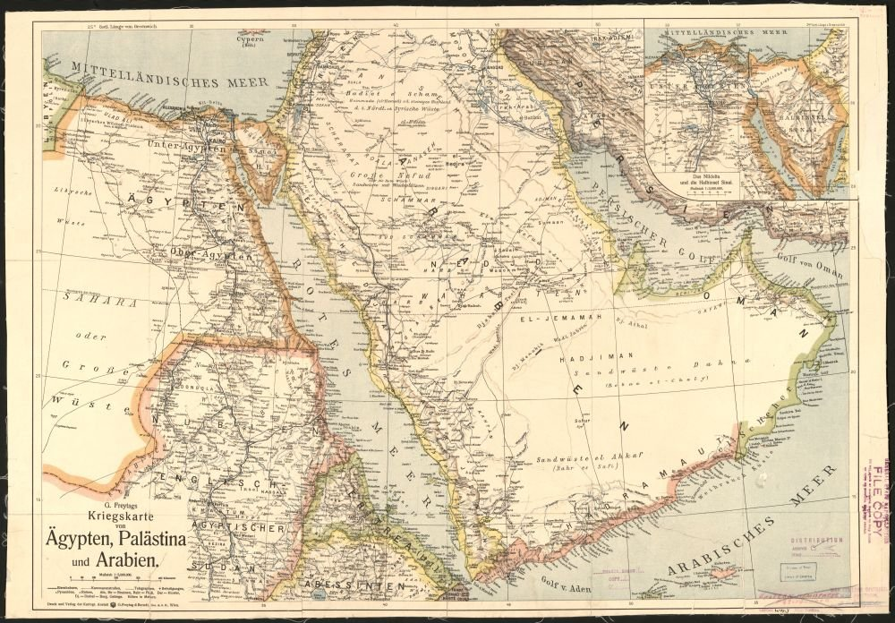 1900 Middle East Map.Amazon Com Historic Map 1900 Map Kriegskarte Von Agypten Palastina