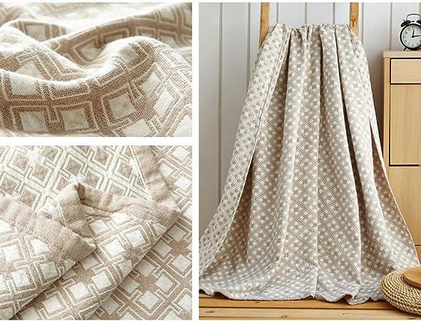 Wddwarmhome Manta de Verano Manta de la Cama Manta de la Sala de Estar Manta Informal Material de algodón Mantas (Color : B, Tamaño : 150 * 200cm): Amazon.es: Hogar