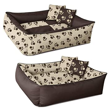 BedDog 2en1 colchón para Perro MAX Quattro XXXL Aprox. 150x110 cm, 8 Colores, Cama, sofá,Cesta para Perro, Marron/Beige