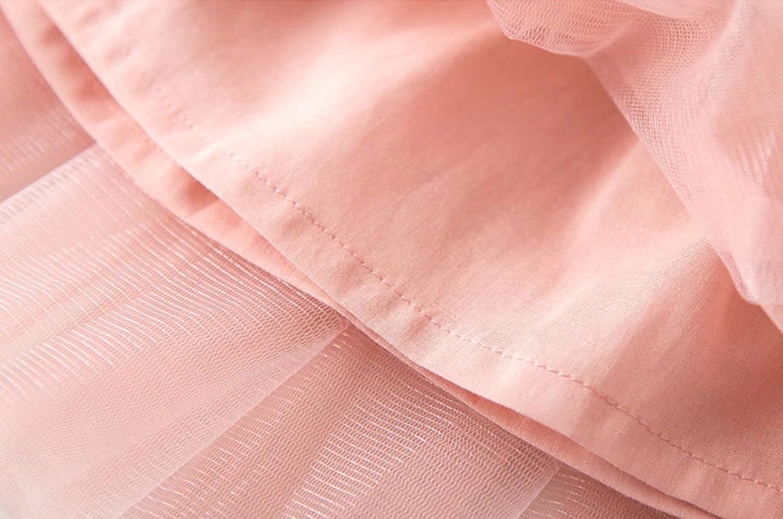 HitZoom Girls Short Sleeve Blouse T-Shirt + Tulle Pleated Skirt 2Pcs Set