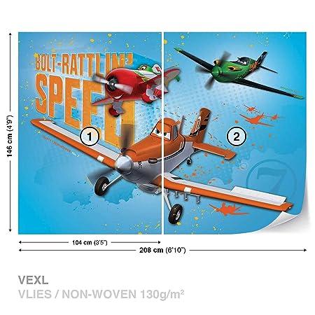 FORWALL Photomural Wallpaper Mural Dekoshop Disney Planes Boys Bedroom  AD466VEXL (208cm X 146cm) Wall