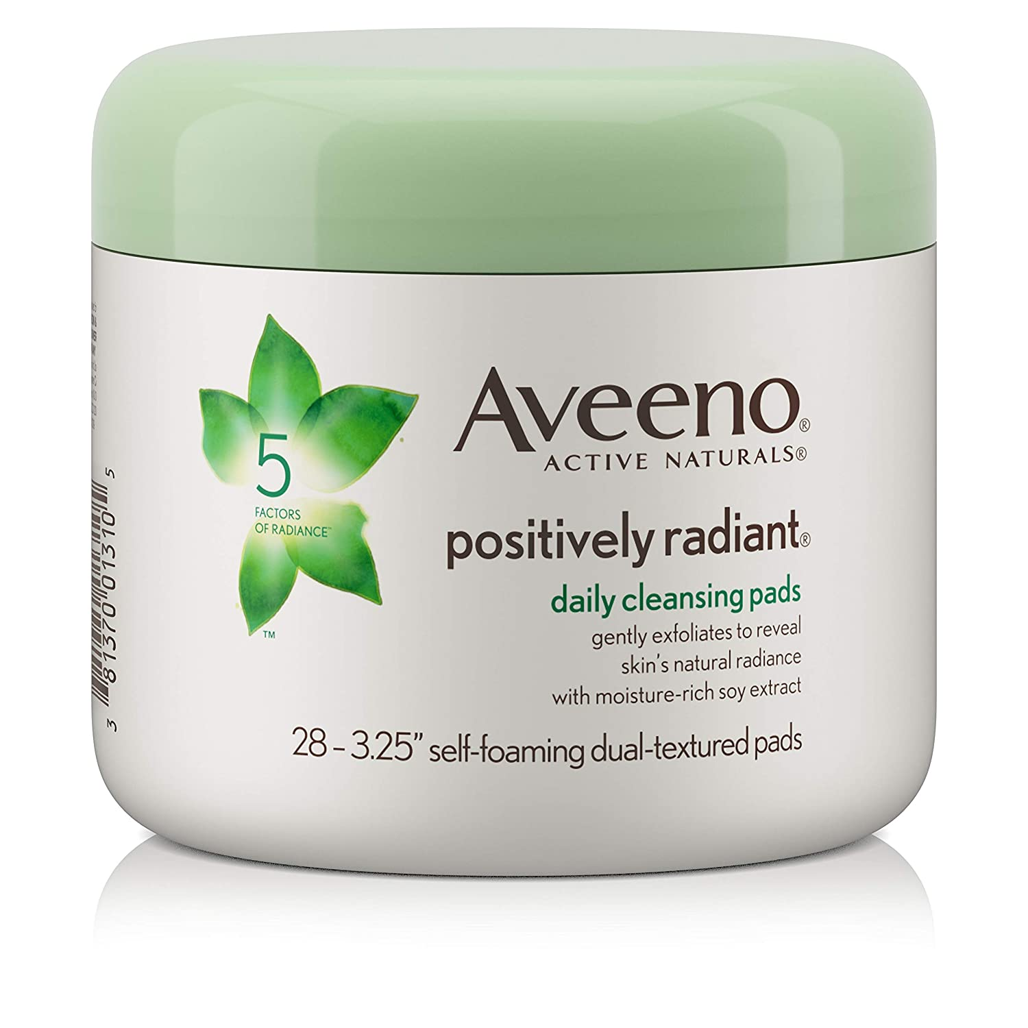 B00027DD2I Aveeno Active Naturals Positively Radiant Cleansing Pads, 28 Count 71KbxjhPeeL._SL1500_