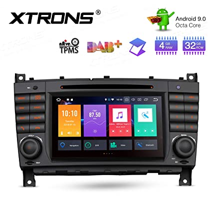 XTRONS Android 9.0 Car Stereo Radio DVD Player Double Din GPS Navigator on