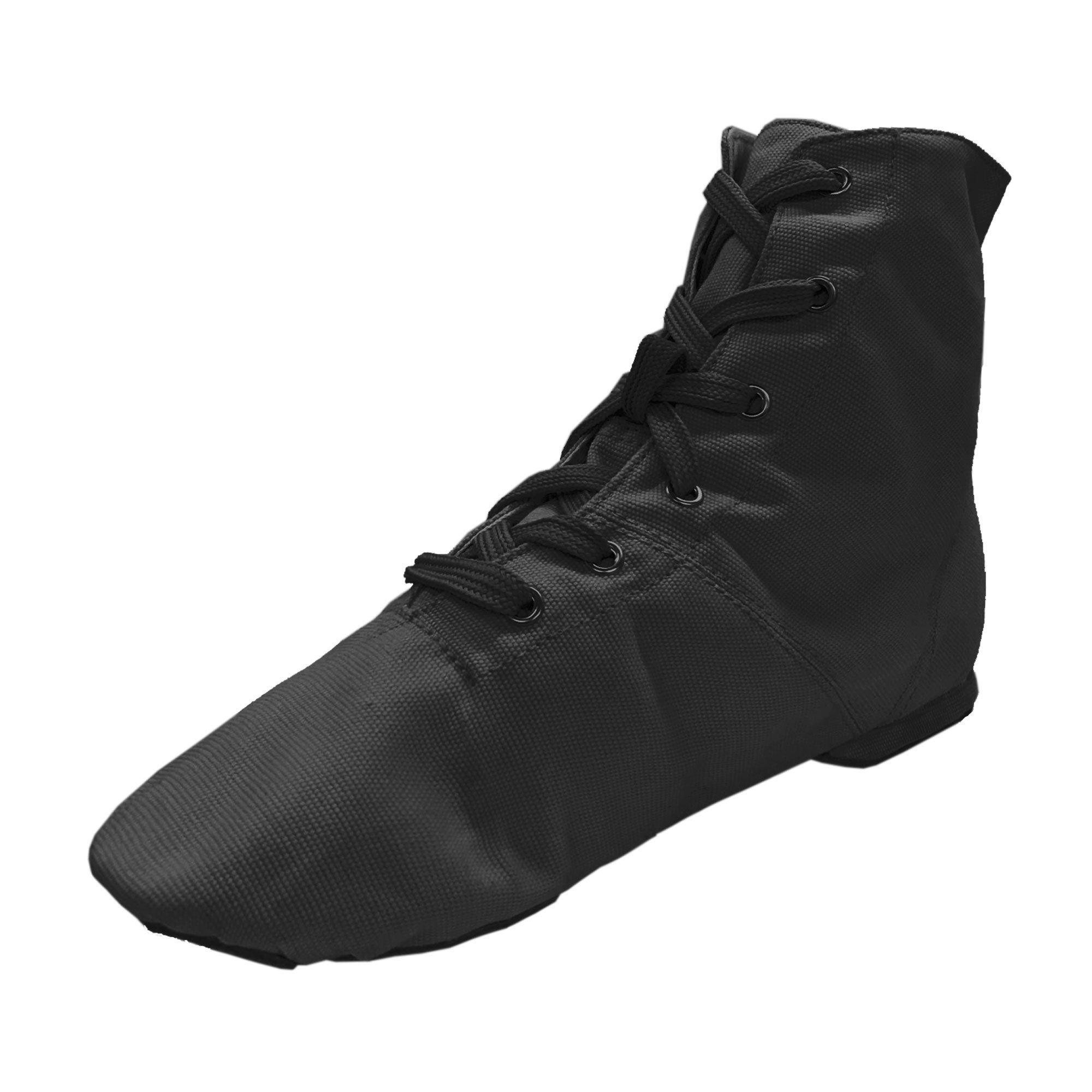 Danzcue Womens Black Canvas Lace up Jazz Boot Shoes, 9 M US