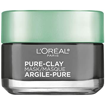 L'Oréal Paris Skincare Pure-Clay Face Mask with Charcoal for Dull Skin to  Detox & Brighten Skin, 1 7 oz