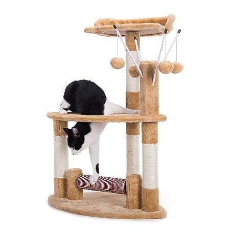 CO-Z Árbol de Gato Torre Gatito con Columna de Sisal Rascador para Gatos Mueble