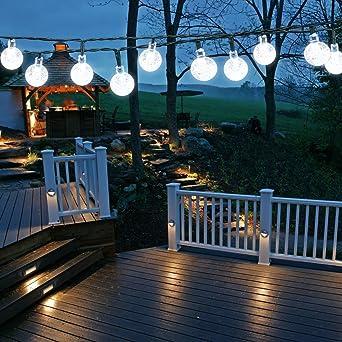 Solar Kugel Lichterkette 6m 30 Led Aussenlichterkette Wasserdicht Dekorative Beleuchtung Fur Haushalt Aussen Garten Hochzeit Weihnachten