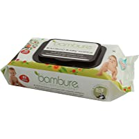 Bambure Bamboo Baby Wipes, 80 Count