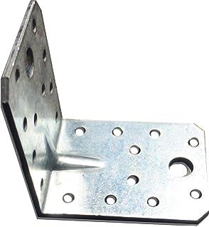 Soportes de esquina chapa de acero galvanizada placas de /ángulo de madera resistente paquete de 10 unidades 70 x 50 x 60 x 2 mm