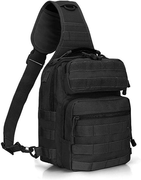 Bolsa de Pecho de Deporte al Aire Libre Mochila Multifuncional para Cazar Selighting Mochila T/áctica Bandolera Hombre Acampada y Senderismo