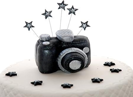 Fine Edible Camera Birthday Handmade Sugarpaste Cake Topper Decoration Funny Birthday Cards Online Benoljebrpdamsfinfo