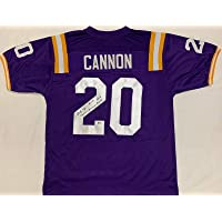 $159 » Autographed Billy Cannon Jersey - Purple Beckett Heisman - Beckett Authentication - Autographed College Jerseys