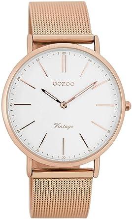 Oozoo Reloj Digital de Cuarzo para Mujer con Correa de Acero Inoxidable - C7398: Amazon.es: Relojes