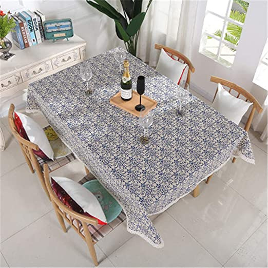 XYAZ Mantel de algodón y Lino Simple y Fresco Mantel Impermeable y ...