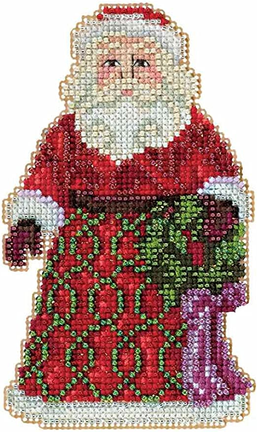 Snowman with Lights Beaded Counted Christmas Holiday Cross Stitch Kit Mill Hill 2016 Jim Shore Winter Series JS201611