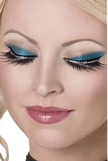 24edcdd5b26 Amazon.com: Smiffy's Fever Women's Eyelashes Blue Spider webs with ...