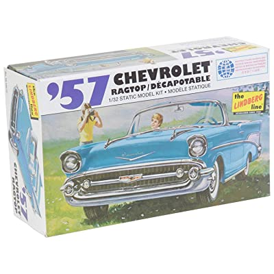 Lindberg Models 1:32 Scale 1957 Chevy Ragtop Model Kit: Toys & Games