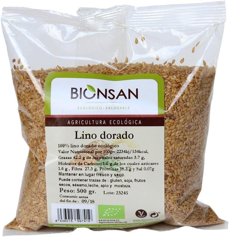 Bionsan Lino Dorado Ecológico - 4 Bolsas de 500 gr - Total: 2000 gr: Amazon.es: Alimentación y bebidas