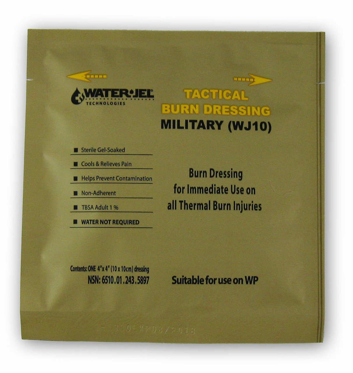 "Water-Jel Military Burn Dressing 4"" x4"""