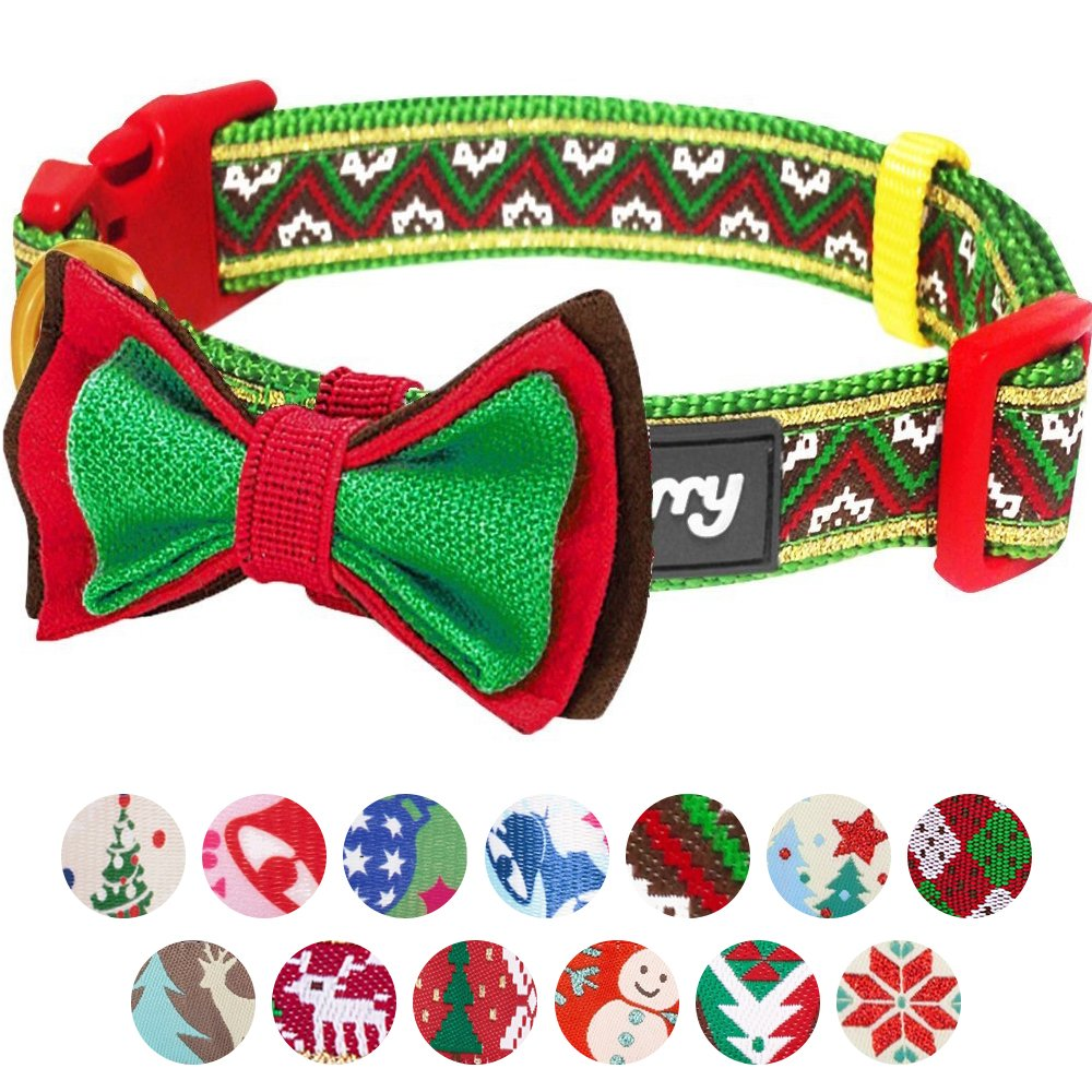Collars and Accessories for Dogs Blueberry Pet 20 Matching Lanyards for Pet Lovers Patterns Christmas Festival Dog Collar Collection