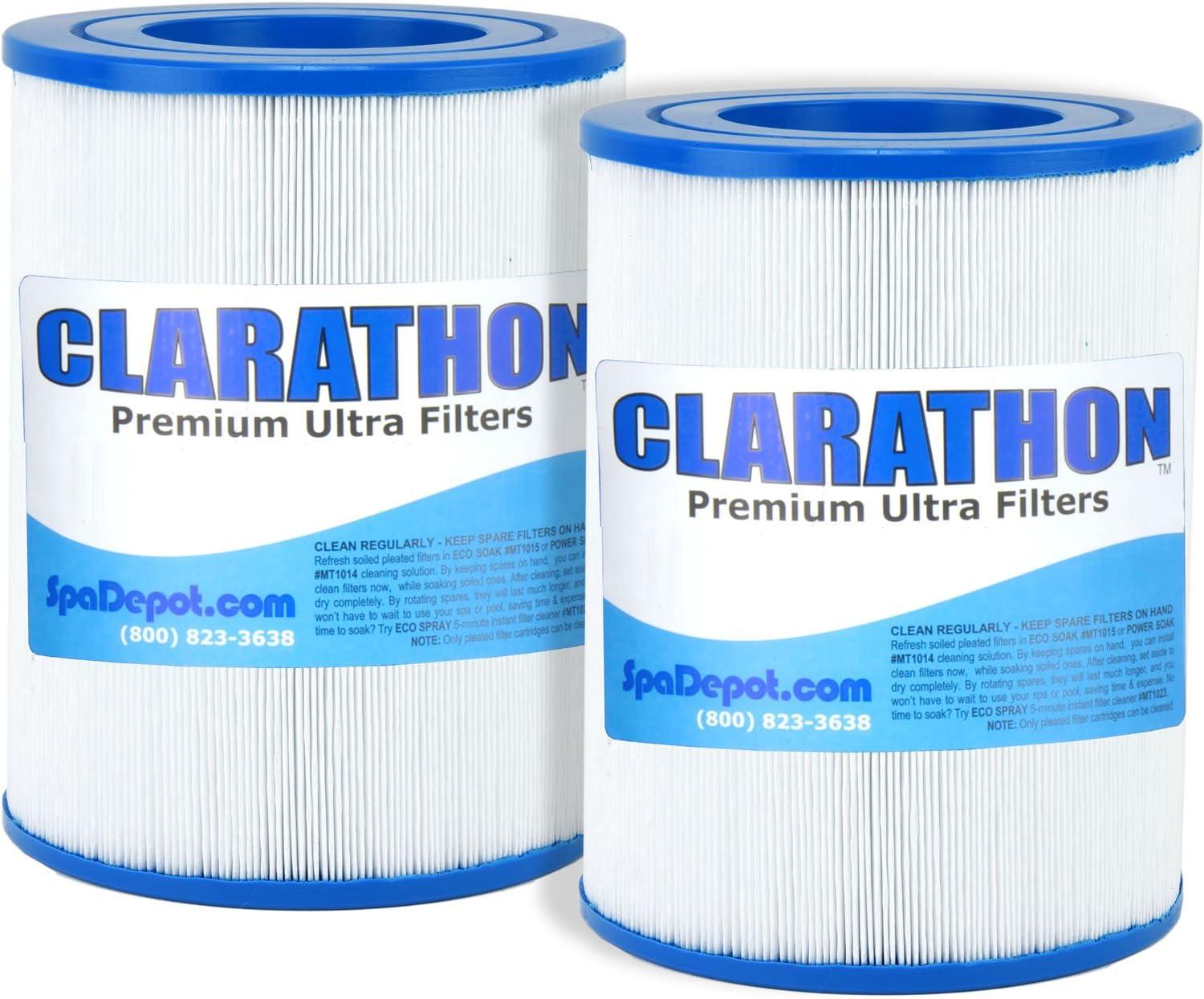 [2] AquaRest / Dream Maker Hot Tub Spa Filters (Round Cartridge) Aqua Rest Twin Pack by Clarathon